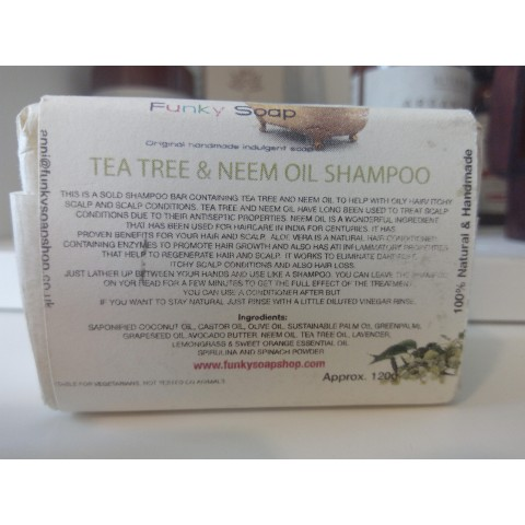 Saponetta Shampoo Solido Olio di Neem è Tea Tree